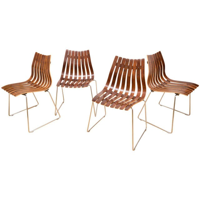 Brown Hans Brattrud Rosewood Chairs - Set of 4 For Sale - Image 8 of 8