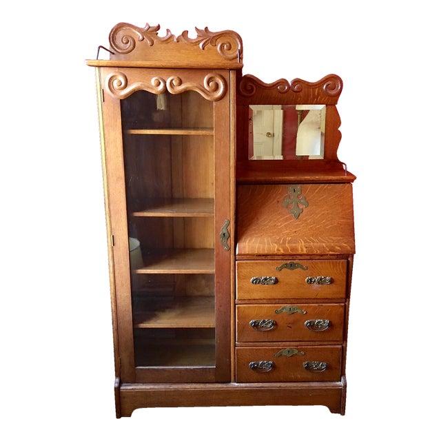 Antique Oak Secretary Desk/Bookcase - Antique Oak Secretary Desk/Bookcase Chairish
