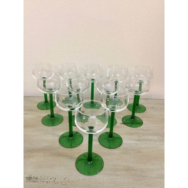 1960's Mid Century Set of 6 Cristal d'Arque Glass Beautiful 1960's mid-century set of 12 Cristal D'Arques-Durand Roemer...