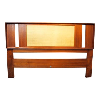 Danish Modern Teak Queen Headboard