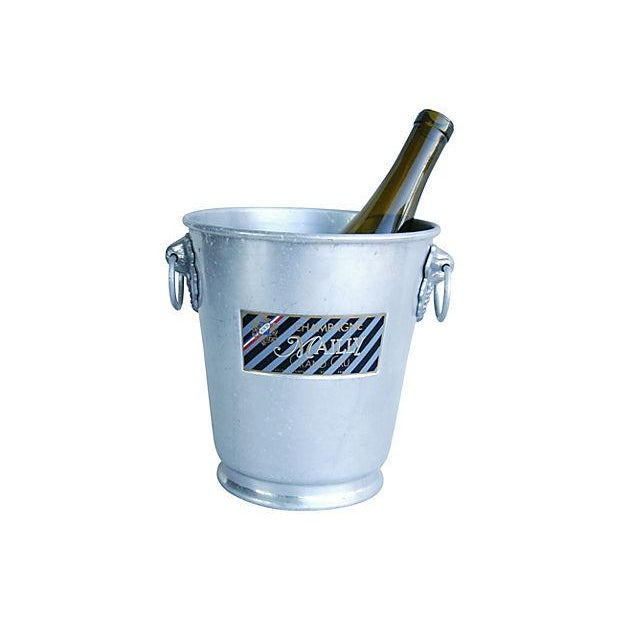 French Vintage French Mailly Grand Cru Champagne Bucket For Sale - Image 3 of 4