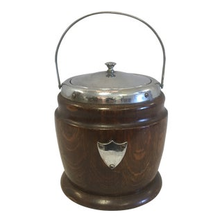 English Wooden Ice Bucket