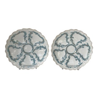 Antique German Weiman Oyster Plates- a Pair