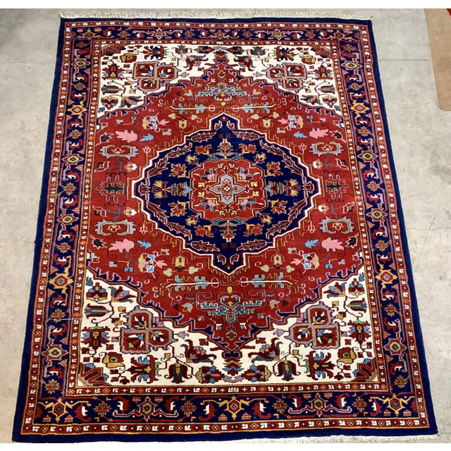 Large Vintage Bahtiari Handwoven Persian Fine Wool Rug For Sale In New York - Image 6 of 6