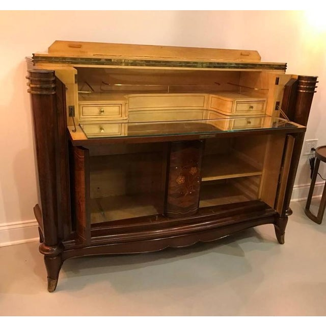 Jules Leleu Style French Art Deco Dry Bar For Sale - Image 10 of 10