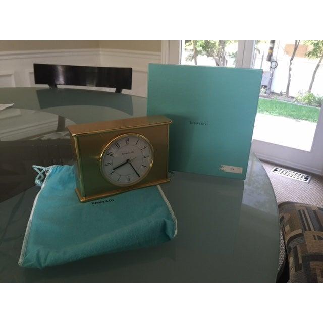 Vintage Tiffany & Co. Brass Mantle Clock - Image 7 of 8