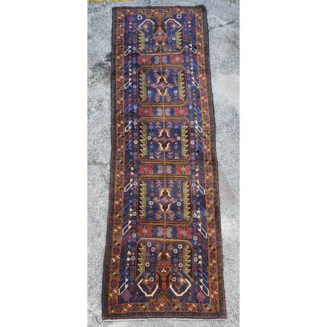 "2010s Afghan Geometric Multi-Color Runner-3'x9'6"" For Sale - Image 5 of 7"