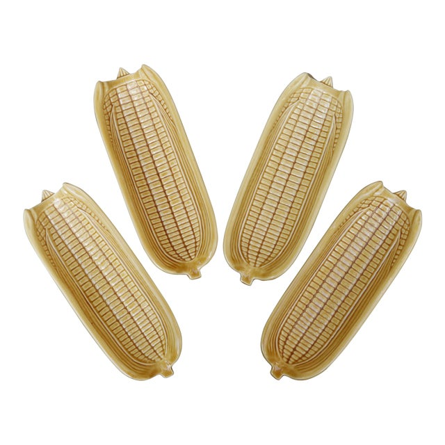 Corn Dishes by Bordallo Pinheiro Pottery of Portugal - Set of 4 For Sale