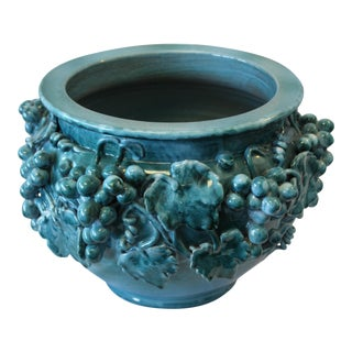 Vintage Italian Ceramic Cache Pot For Sale