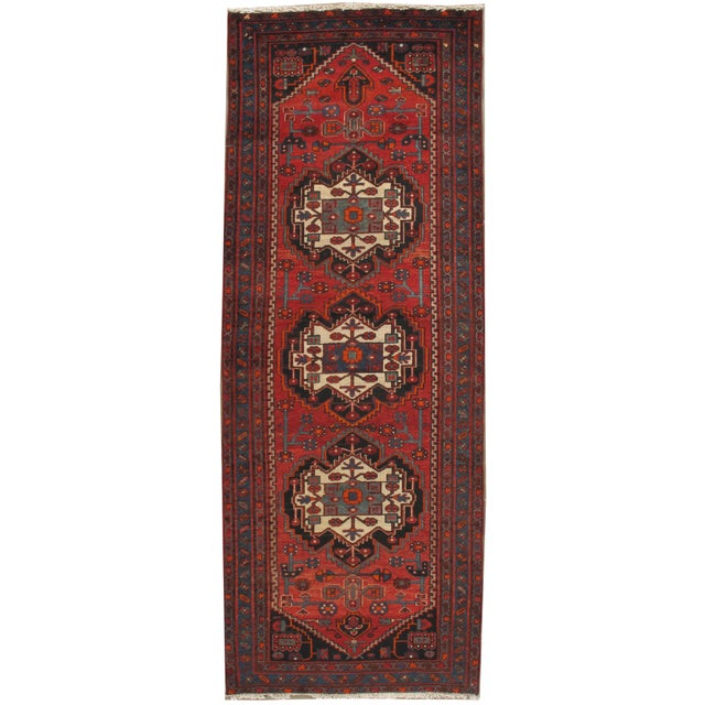 Persian Hand Knotted Runner 3'11 X 10' For Sale In New York - Image 6 of 6