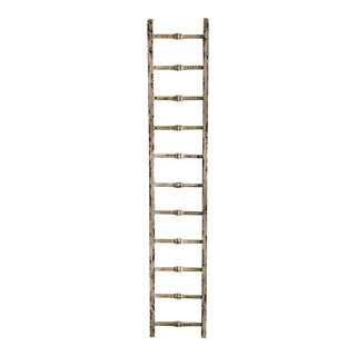 Rustic White Blanket Ladder For Sale