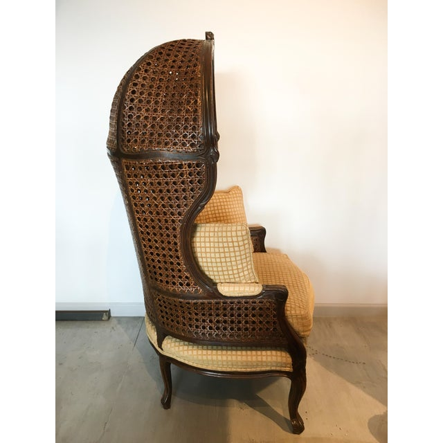 Boho Chic Mariano Garcia Cane Hooded Porter's Chair For Sale - Image 3 of 11