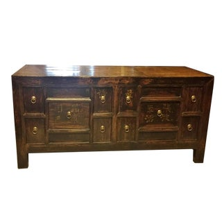 19th Century Antique Asian Solid Wood Chest of Drawers For Sale