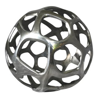 Decorative Silver Metal Spherical Objet