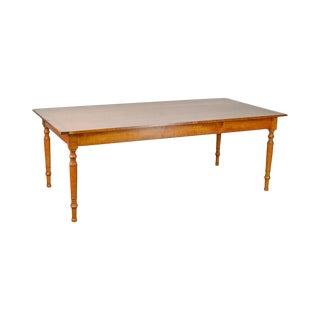 "Leonards 84"" Tiger Maple Farmhouse Dining Table"