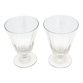 Very Rare English Georgian Wine Glasses - a Pair For Sale