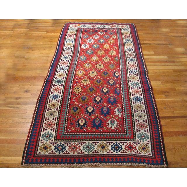 "Traditional Antique Caucasian - Kazak Rug 4'0"" X8'6"" For Sale - Image 3 of 7"