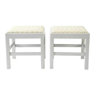 Shabby Chic Foot Stools - a Pair For Sale