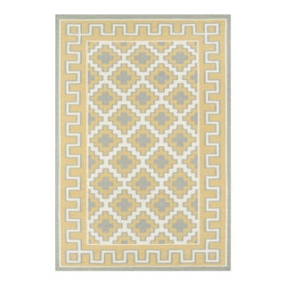 """Erin Gates by Momeni Thompson Brookline Gold Hand Woven Wool Area Rug - 3'6"""" X 5'6"""" For Sale"""