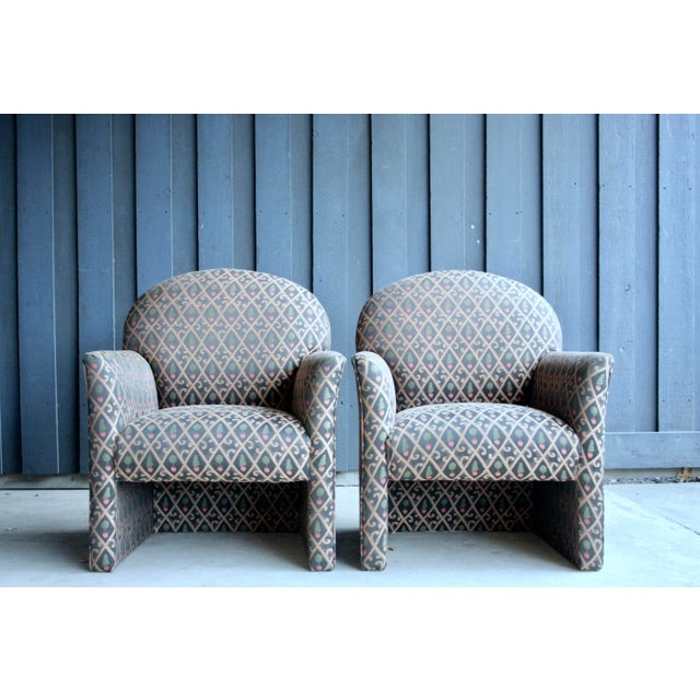 Textile 1980s Contemporary Armchairs, Set of 4 For Sale - Image 7 of 13
