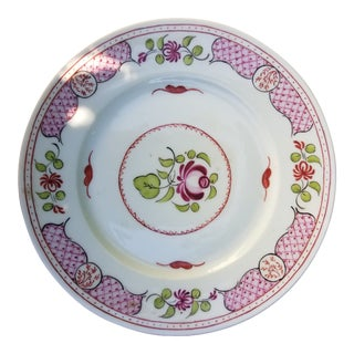 12 Antique Pink Floral P&p France Limoges Faience Dessert Plates For Sale