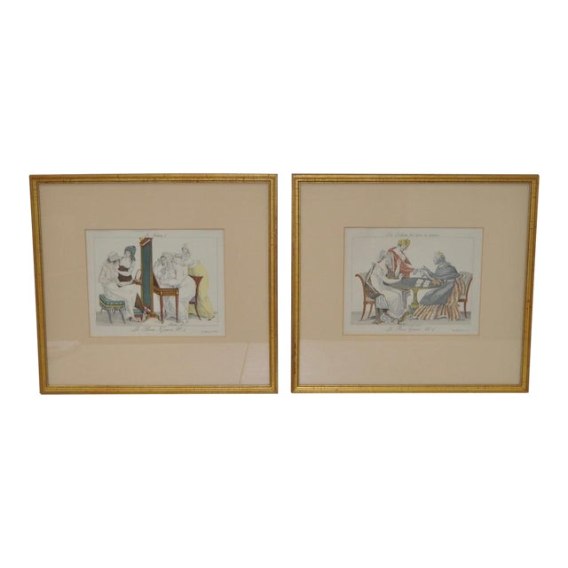 French Hand Colored Engravings - A Pair - Image 1 of 8