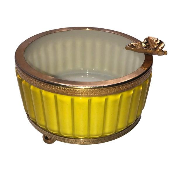Italian Antique Murano Yellow Ashtray For Sale - Image 3 of 8