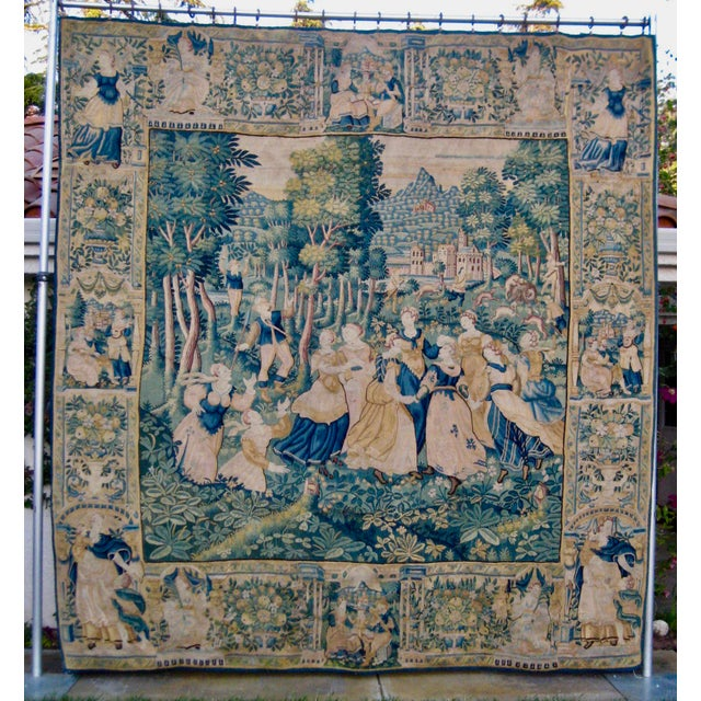 Large 16th Century Flemish Tapestry Wall Hanging For Sale - Image 13 of 13
