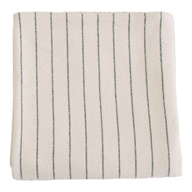 Pinstripe Blanket in Midnight Blue, King For Sale