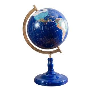 Traditional Blue Lapis Gemstone Desk Globe