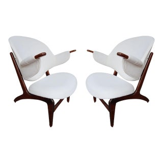 A Pair of Armchairs, Model 190, Jute 1959 by Hovmand Olsen, Denmark 59'