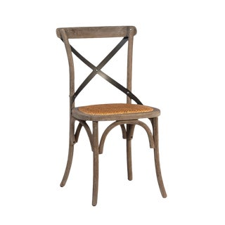 Rattan Seat X Back Chair For Sale
