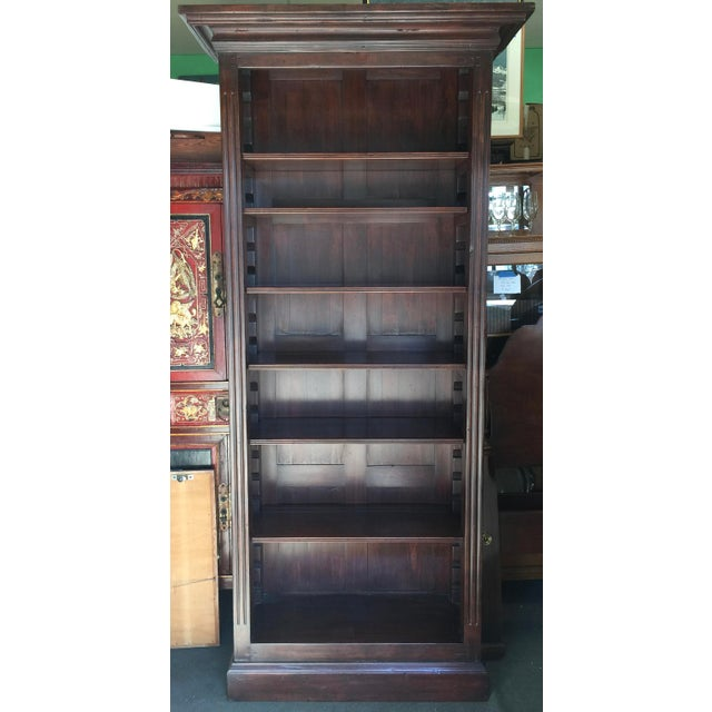 Rustic Solid Walnut Bookcase For Sale - Image 11 of 11