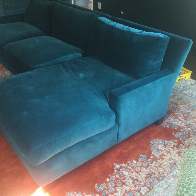 Teal Sofa with Chaise from Quatrine - Image 3 of 7
