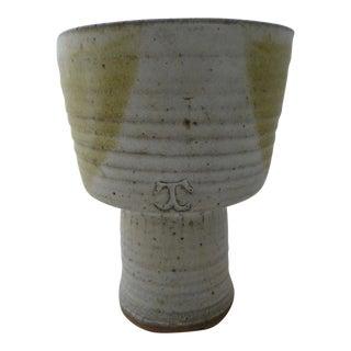 Mid-Century Studio Art Pottery Vase For Sale