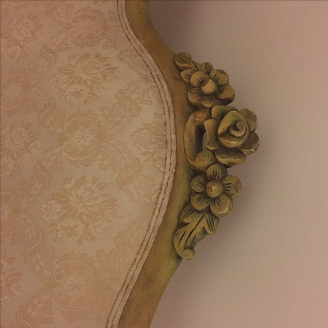 Vintage French Shabby Chic Settee - Image 6 of 9