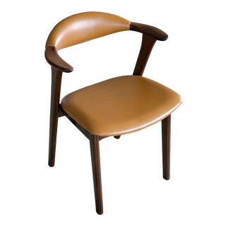Danish 1960s Desk or Side Chair in Leather and Rosewood by Erik Kirkegaard For Sale