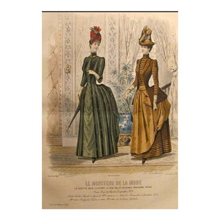 1885 Moniteur De La Mode, Parisian Ladies Fashion (Plate 43-1885)