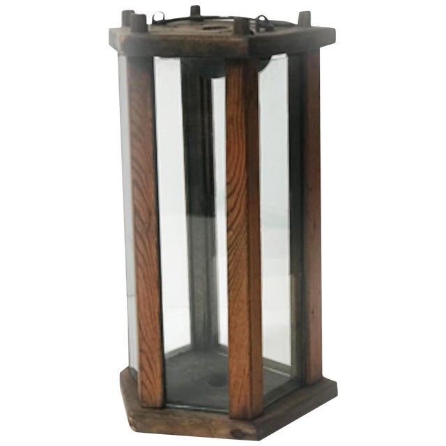Late 19th Century Swedish Wooden Lantern For Sale