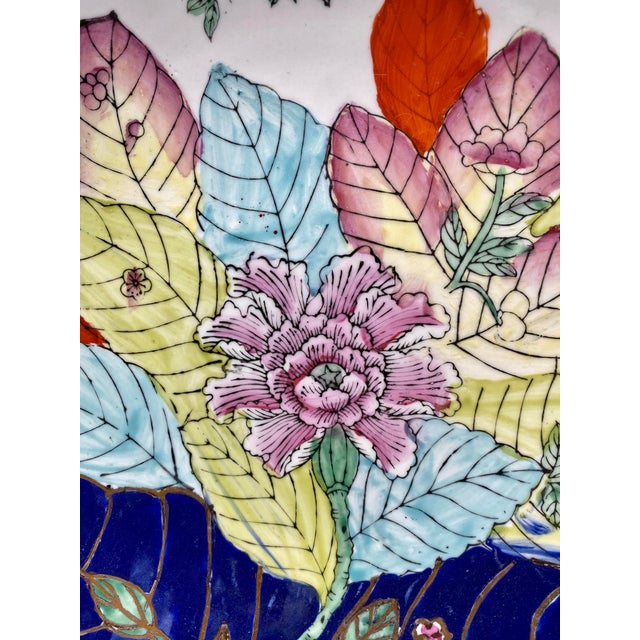 Chinoiserie 20th Century Chinese Tobacco Leaf Pattern Plates - a Pair For Sale - Image 3 of 10