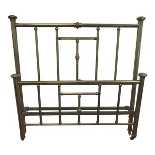 1900s English Traditional Brass Full Size Headboard and Footboard - 2 Pieces