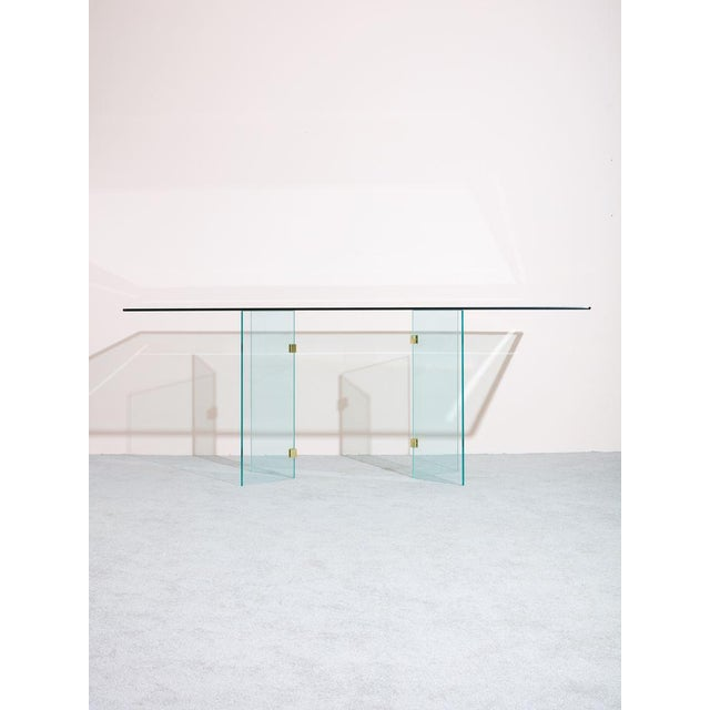 1980s Pace Collection Glass Dining Table For Sale In New York - Image 6 of 6