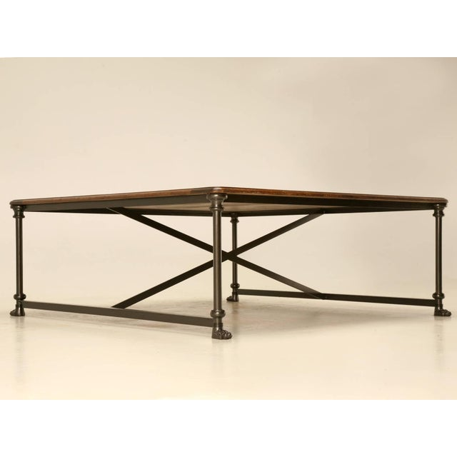 Coffee or Cocktail Table With Steel and Bronze Base For Sale In Chicago - Image 6 of 10