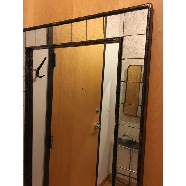 West Elm Tile Floor Mirror - Image 3 of 5