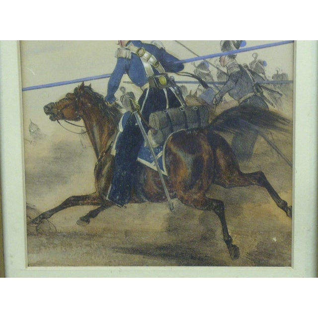 "Figurative ""Charge"" Framed & Matted Print For Sale - Image 3 of 7"