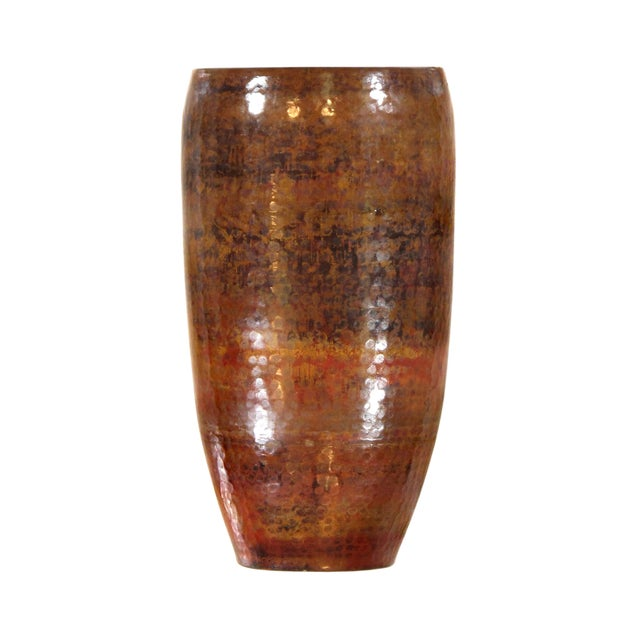 Pasargad's Hand-Forged Copper Vase - Image 1 of 5