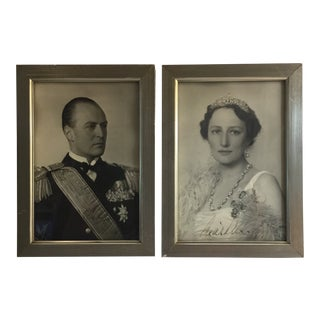 1930s Portraiture Black and White Photographs of European Royalty - a Pair For Sale