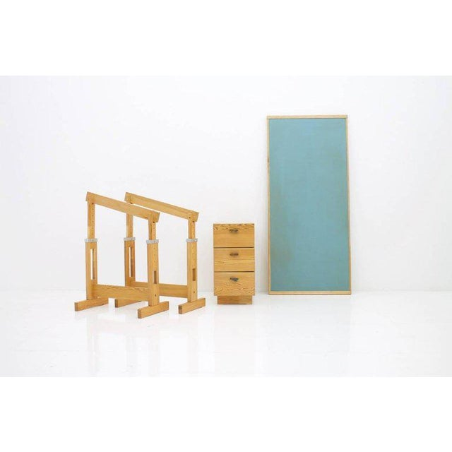 Asko Adjustable Pine Wood Writing Desk Finland, 1970s For Sale - Image 9 of 13