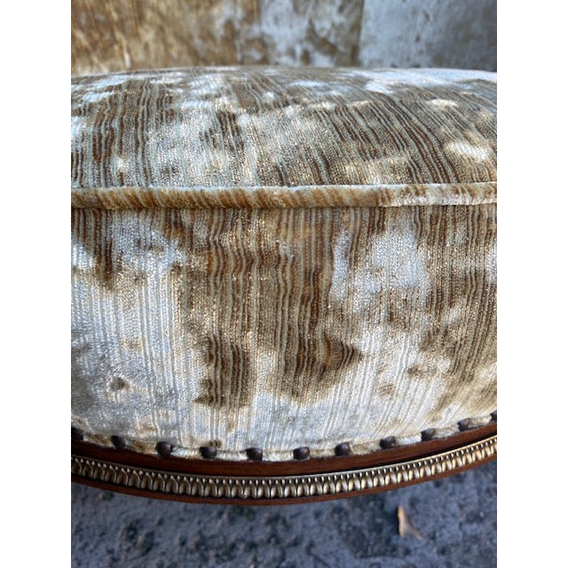 Late 19th Century 19th Century Vintage French Bronze Mounted Barrel Chair For Sale - Image 5 of 13