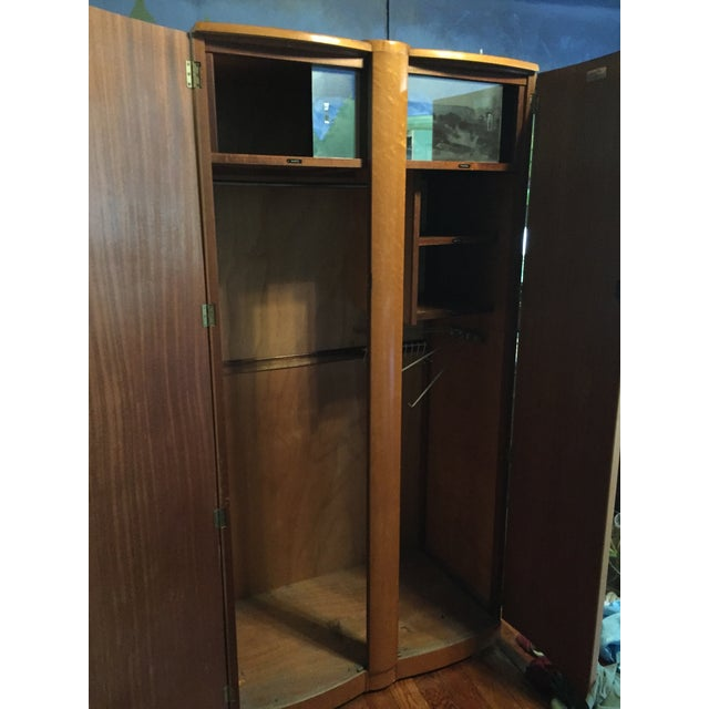Birds Eye Maple Art Deco Wardrobes - a Pair For Sale In Chicago - Image 6 of 13